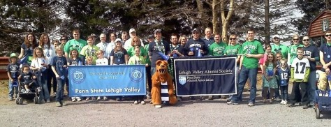 The Penn State Lehigh Valley Alumni Society and Penn Staters before the 2012 Allentown St. Patrick's Day Parade