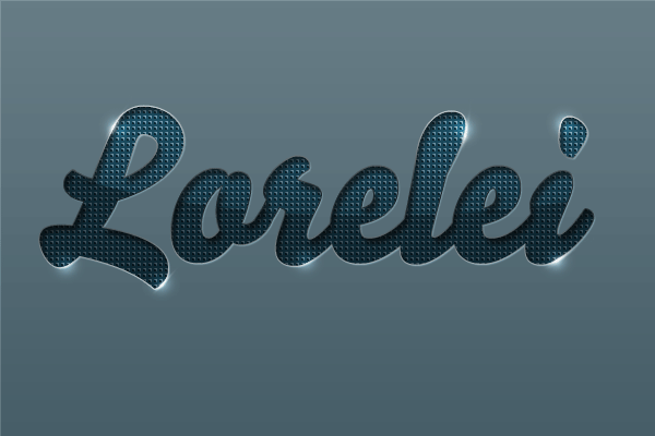 Download Stylish Embossed Text PSD with Metallic Glow