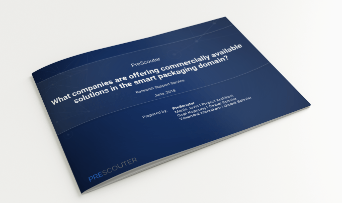 What companies are offering commercially available solutions in the smart packaging domain?
