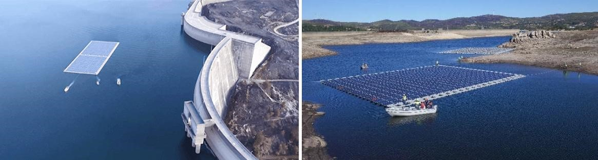 Floating solar plant (photo courtesy of Silvano Pinter, Hydrosolar srl)