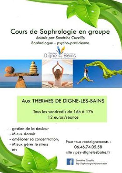 Cours collectifs de Sophrologie aux Thermes de Digne les Bains 04 Alpes de Haute Provence