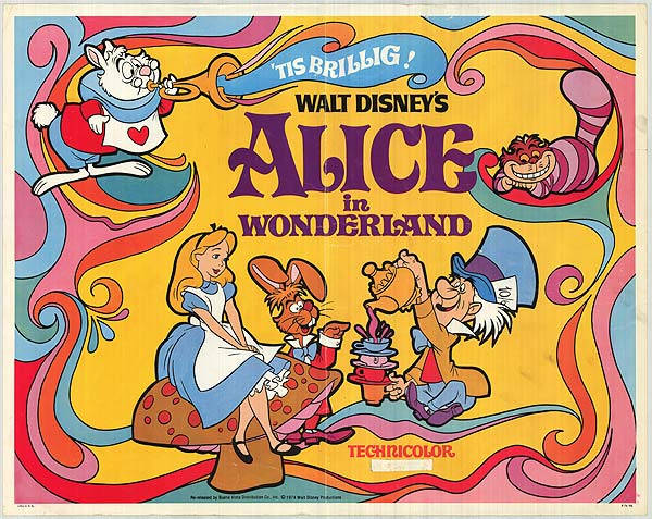 psychedelic movies Alice in Wonderland