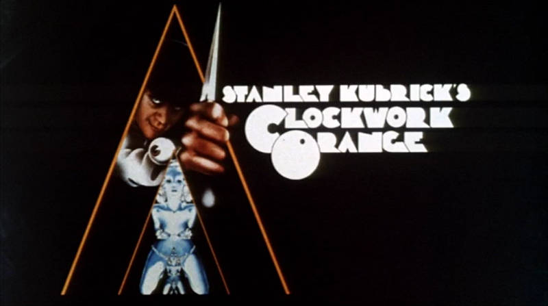 psychedelic movies Clockwork Orange poster