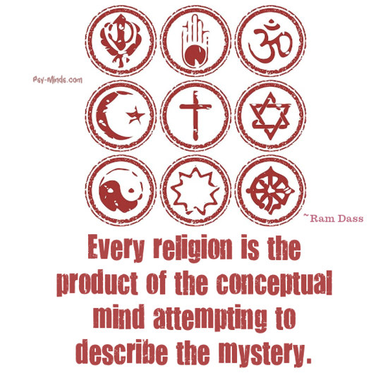Every religion is the product Ram Dass