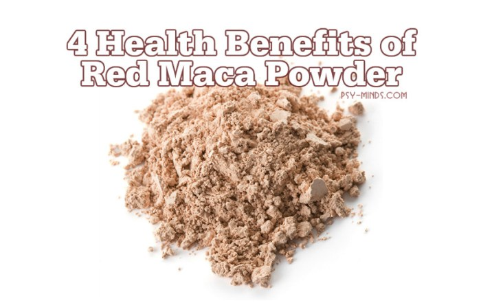 4 Health Benefits of Red Maca Powder