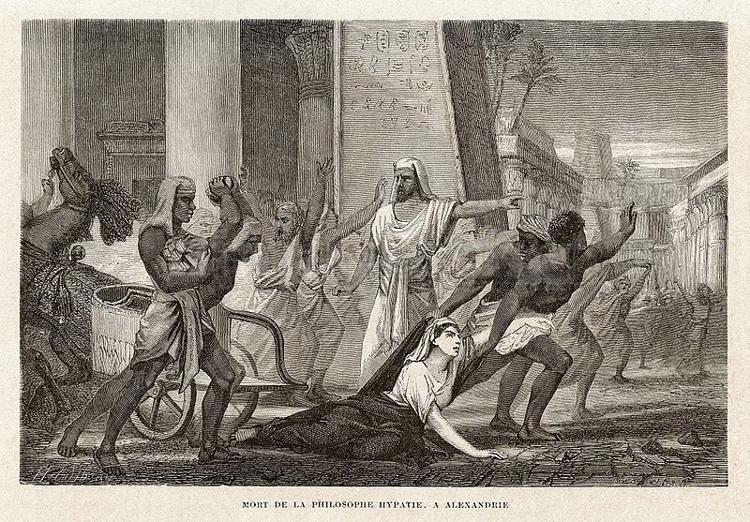 Mort_de_la_philosophe_Hypatie Library of Alexandria