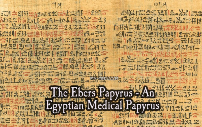 The Ebers Papyrus - An Egyptian Medical Papyrus
