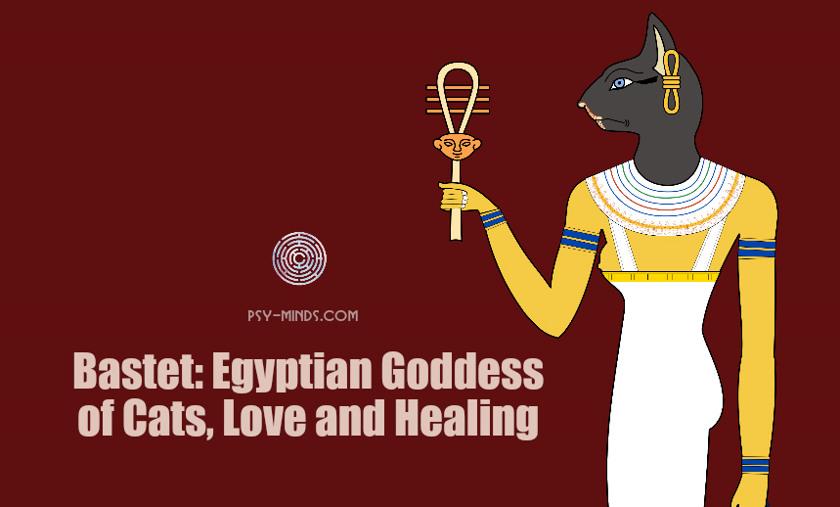 Bastet Egyptian Goddess of Cats, Love and Healing
