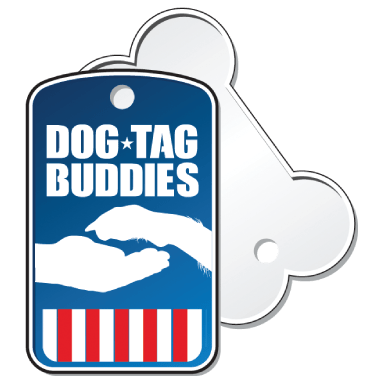dog tag buddies logo type logo icon