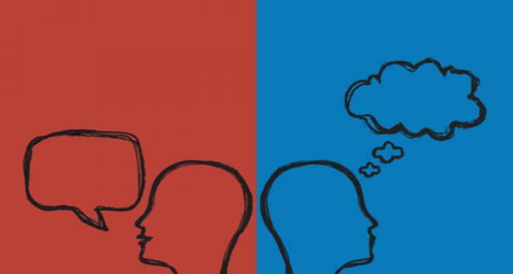 خطوط سر بر روی یک پس زمینه آبی و قرمز