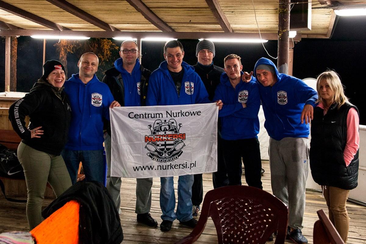 Ekipa Nurkersowa w bazie DeepDiver Płotki