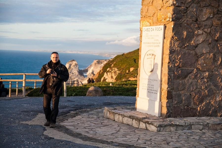 Cabo da Roca, najdalej na zachód wysunięty kraniec Europy.