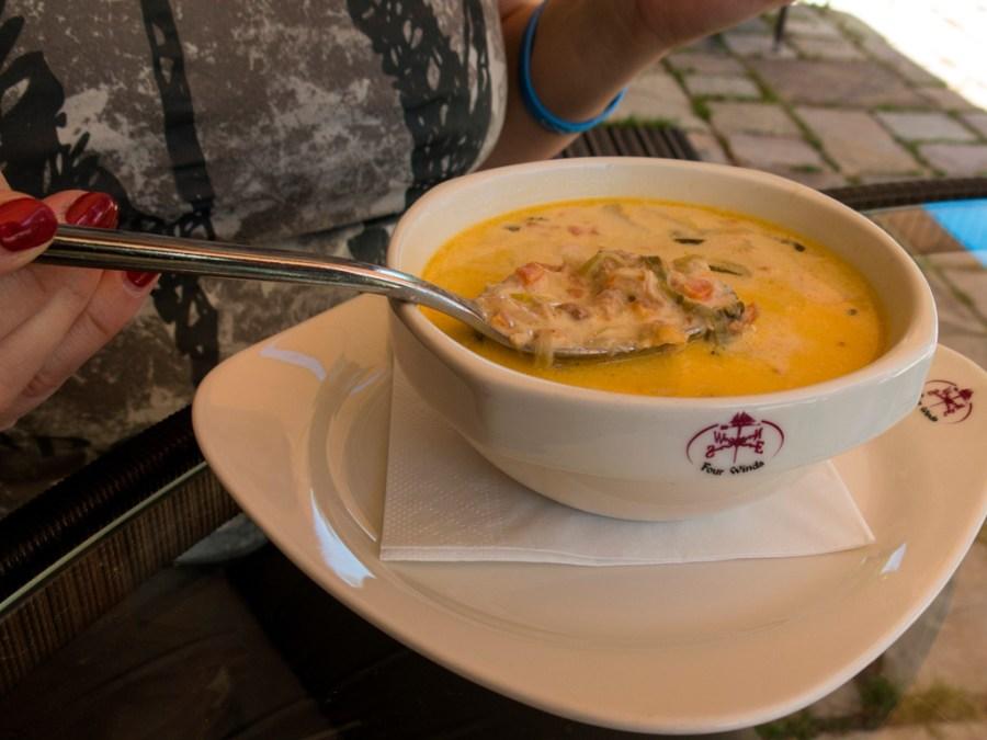 Zupa rybna w Four Winds – obłędna! :)