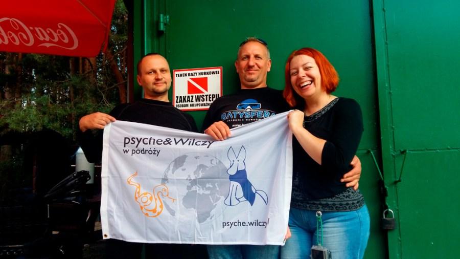 Psyche&Wilczy w bazie z gospodarzem Mikołajem :)