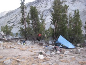 Day 19, Hidden Camping Spot, Upper Palisades Lake