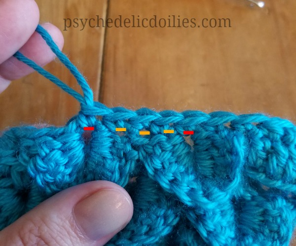 free dragon scale crochet pattern psychedelic doilies