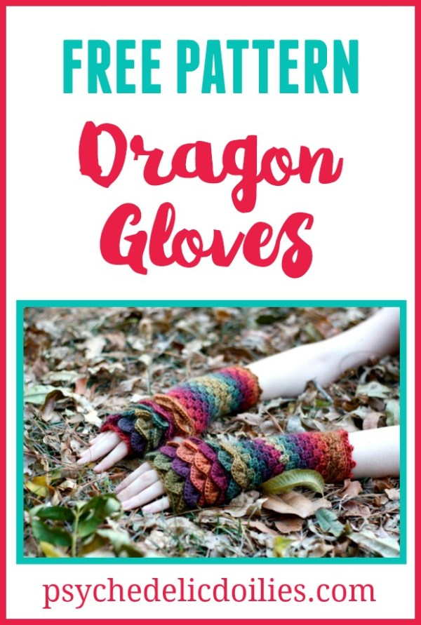 Crochet Dragon Gloves Free Pattern.