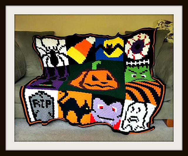 halloween crochet patterns Archives - Psychedelic Doilies