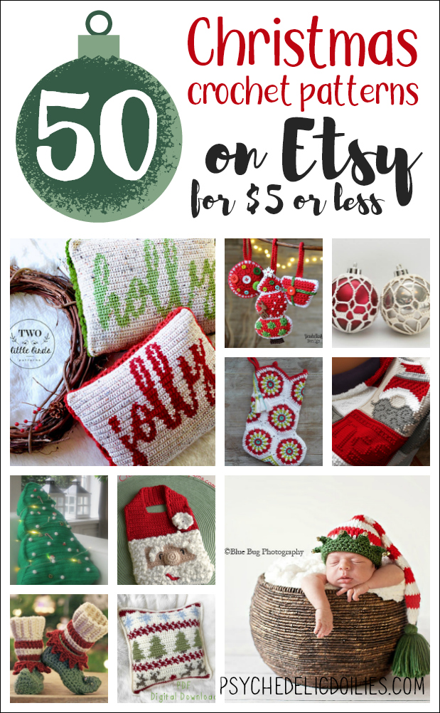 50 Christmas Crochet Patterns on Etsy for Under $5 - Psychedelic Doilies