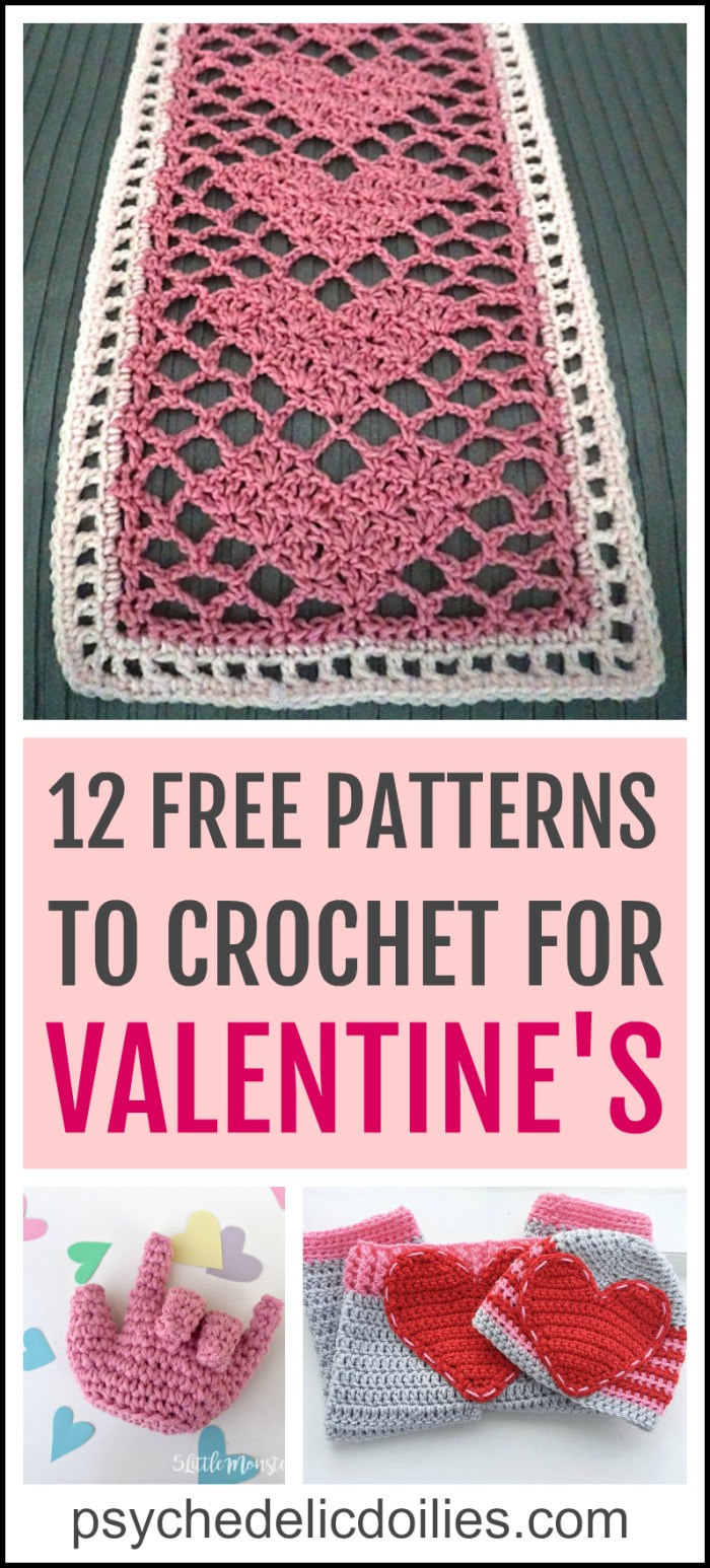 The Best Free Crochet Valentine Patterns Psychedelic Doilies