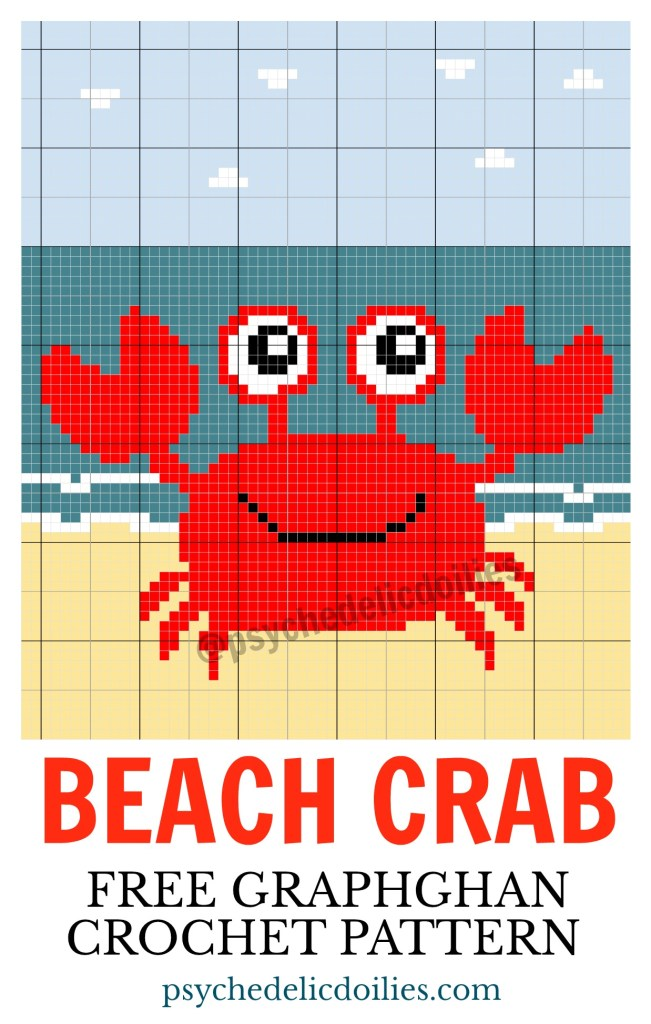 Crab Graph Free Crochet Pattern Psychedelic Doilies