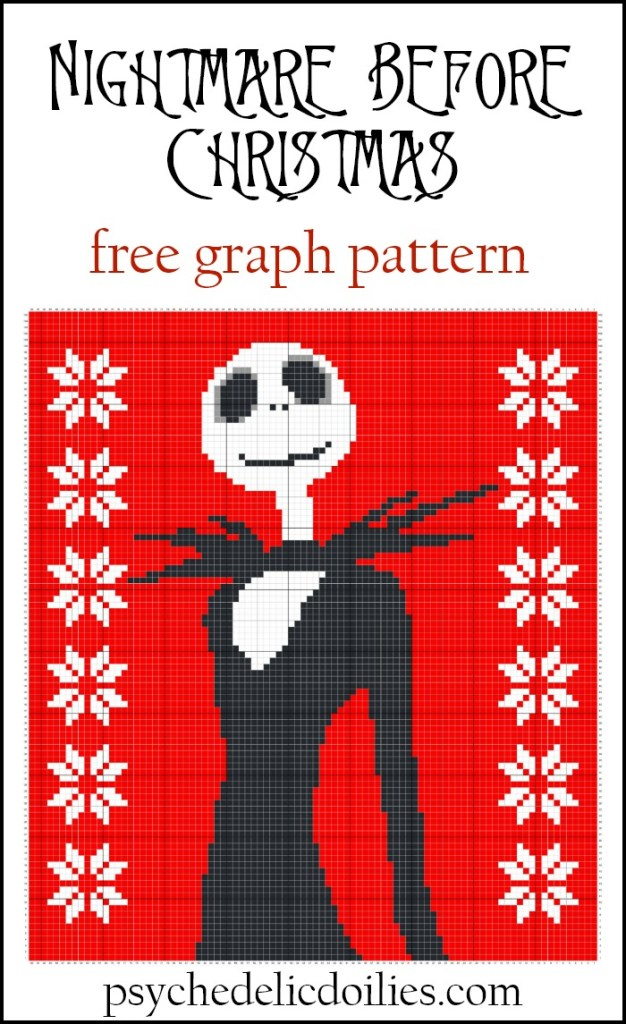 Nightmare Before Christmas Graphghan Blanket Pattern Psychedelic