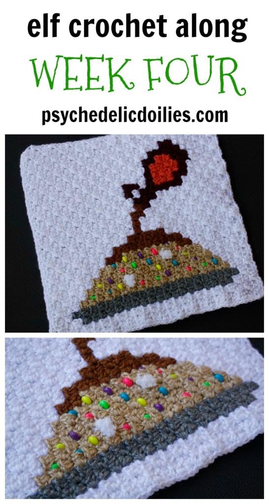 Elf Christmas Blanket Crochet Along Week Four.
