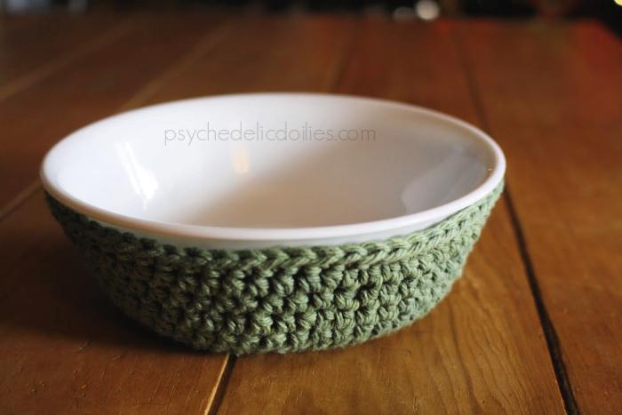 Microwaveable Correlle Bowl Cozy Crochet Pattern