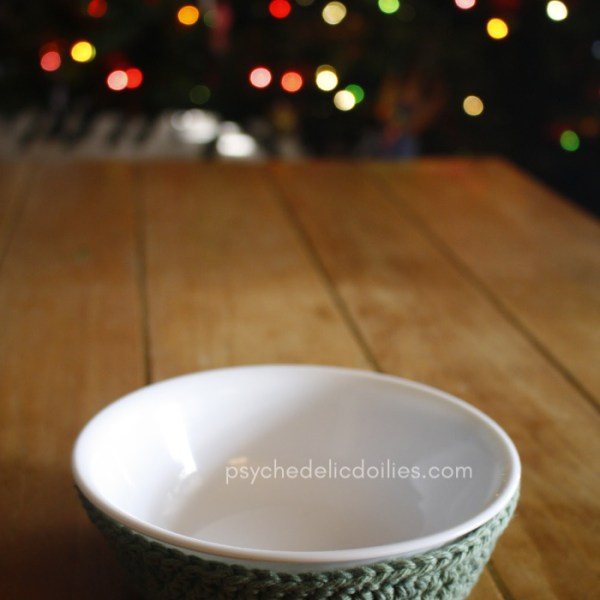 Corelle Bowl Cozy Free Crochet Pattern