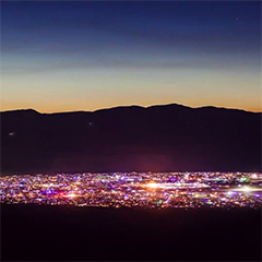 Time lapse of Burning Man 2013 from a mountaintop