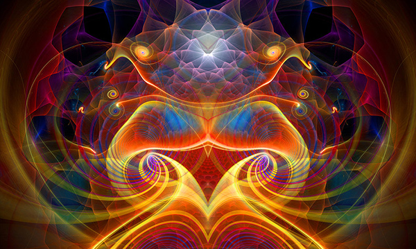 Spiralling Within, a fractal artwork created by the author