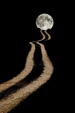 Trail to the moon