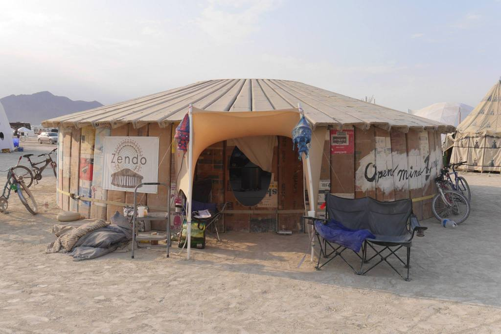 One of two Zendo tents at Burning Man 2016