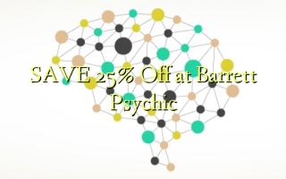 Gem 25% Off ved Barrett Psychic