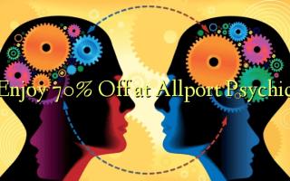 Nwee 70% Gbanyụọ na Allport Psychic