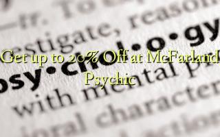 Få op til 20% Off på McFarland Psychic