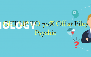 FÅ OP TIL 70% Off på Filey Psychic