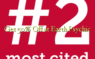 Få 50% Off på Earth Psychic