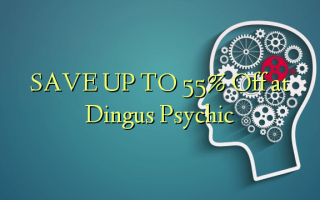 SAVE UP TO 55% Off at Dingus Psychic