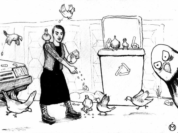 Негативные женские сценарии: тетка с голубями