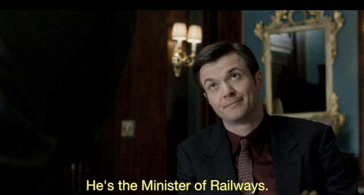 He's the Minister of Railways 1