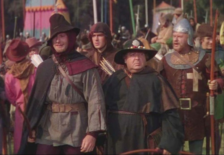 Robin and His Men Arrive at the Archery Tournament
