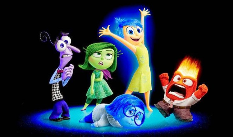 Pixar Inside Out characters