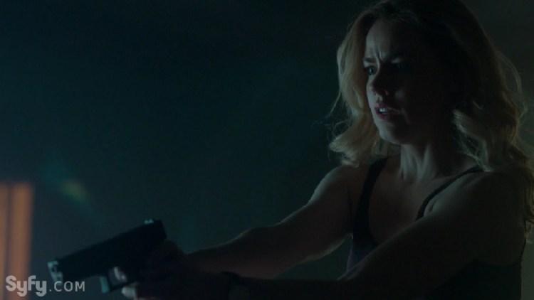 Amanda Schull Strikes a Pose with a Gun