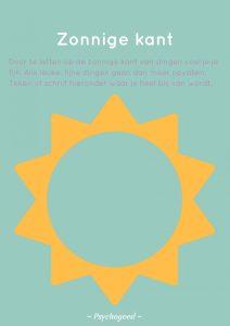 Werkblad Zonnige kant download van Psychogoed. Leer je kind positief denken!
