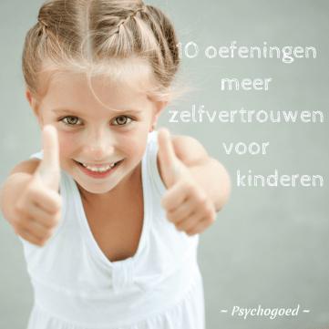 Oefeningen voor meer zelfvertrouwen voor kinderen