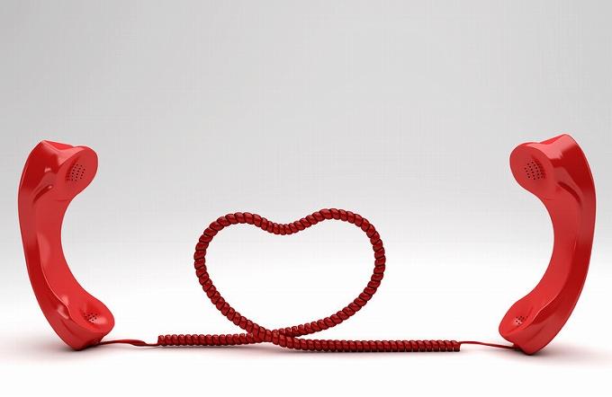 遠距離恋愛 電話