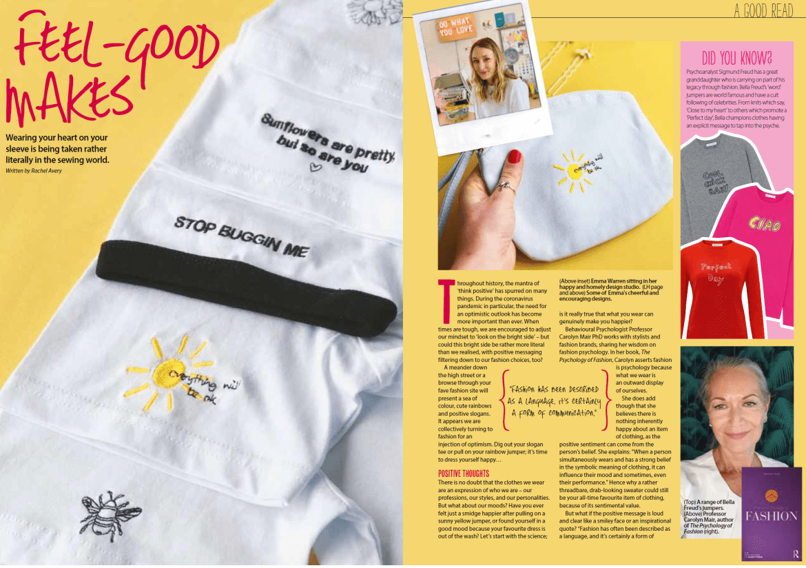 Feel good published in Simply Sewing magazine, Feb 21 issue