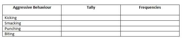 Behaviour Schedule