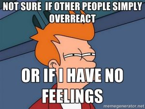 Over feeling